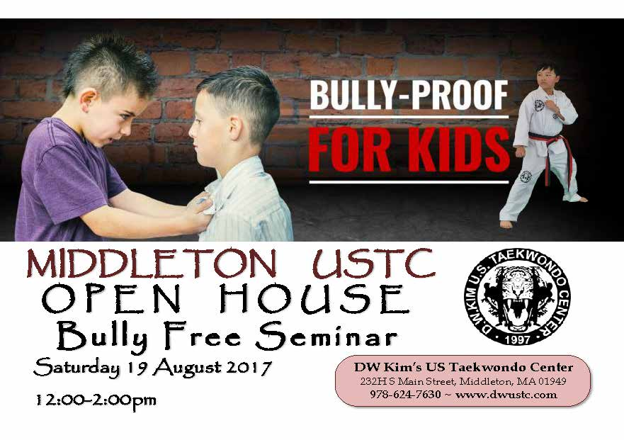 Open House Poster 2017 BULLY FREE
